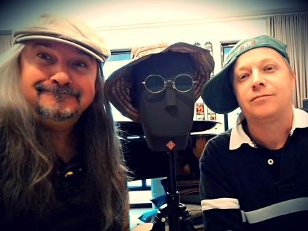 Matthew Lien and Gavin Phipps with the KU-100.
